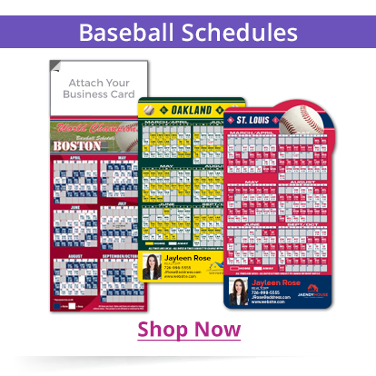 Magnetic Real Estate Baseball Schedules