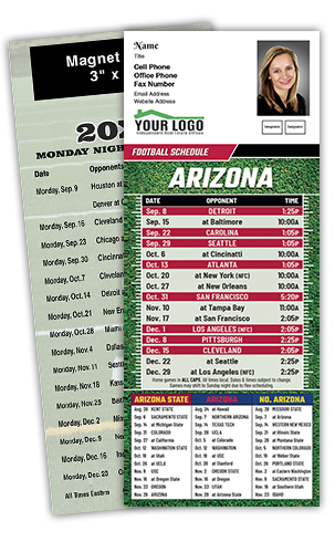 Econo Laminated Football Cards w/ Magnet Strip | RealEstateCalendars.com