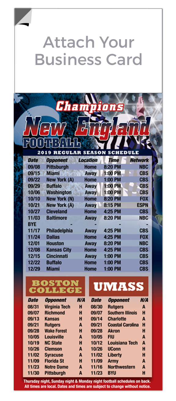 Peel-N-Stick Magnetic 2020 Football Schedules | RealEstateCalendars.com