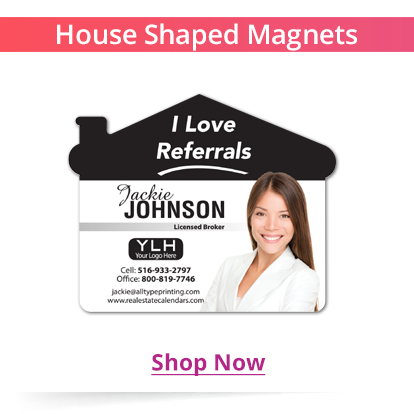 House Shaped Magnets for Real Estate Agents
