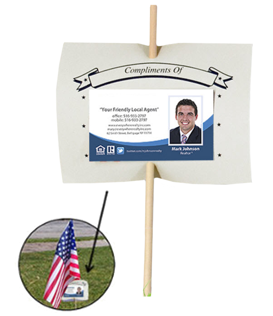 Real Estate Lawn Flag Business Card Riders | RealEstateCalendars.com