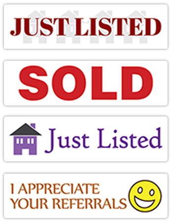 Rectangle-Shaped Real Estate Stickers