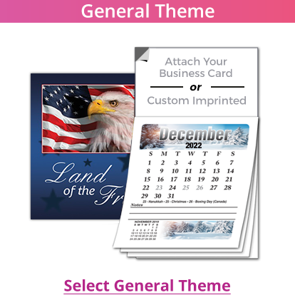 Promotional magnet calendar for small business owners