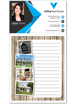 Custom imprinted magnetic notepads for realtors