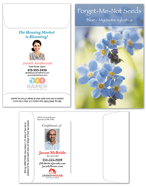Full Color Customized Seed Packets for Realtor Promotion Giveaway | RealEstateCalendars.com